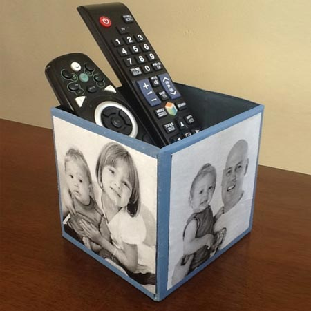HOME-DZINE | There are so many ways to recycle and re-purpose items you already have at home into practical gifts, like this remote holder made from a recycled tissue box. Get the kids involved in making their own Father's Day gift - something dad can use and treasure forever.