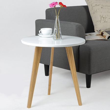 I love Scandinavian design, and these pretty Danish-style tables are easy to make using 16mm pine plywood that you can buy at Builders.