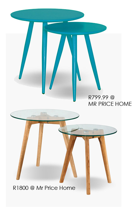 Make a pair of Danish tables in different heights for a set of nesting tables. You have the option to wax them, stain, seal, varnish or paint in your choice of colour.