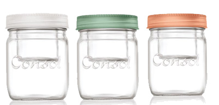 Consol's jar in a jar is available in coral, blue, green and white and you can buy them at select stores, at The Consol Shop, or online at Consol.
