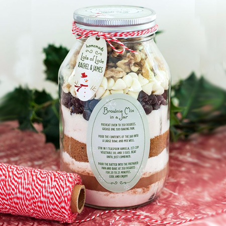 Fill Consol's jar in a jar with your favourite cookie or cake mix and gift to family and friends for a special occasion - or just for fun!
