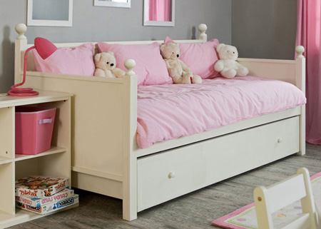 design-a-bed sara day bed including pullout bed and standard mattress