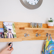 Quick Project: Pine Coat Rack and Shelf
