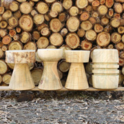 Make Tree Stump Stools and Tables