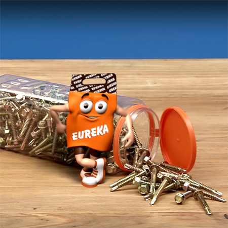 When you need to secure IBR sheet, Eureka Tek self-drill screws are the ideal fastener for securing metal to metal, wood to wood and even metal to wood.