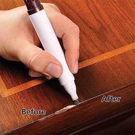 LiberonTouchUp Pens can be used to disguise superficial scratches and small blemishes on finished wood surfaces. TouchUp Pens are available in a variety of wood type tints.