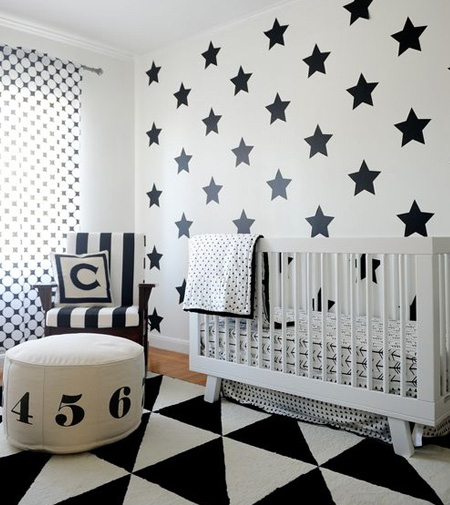 HOME-DZINE | If you're worried that the nursery doesn't feel like much of a kid's room because you have opted for a neutral palette, get creative by introducing bold patterns either through matts, cushions, pillow or throws.
