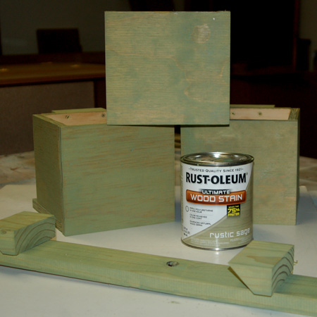 HOME-DZINE | I chose the finish the planter boxes with Rust-Oleum Ultimate Wood Stain in sage green. You can stain, seal or paint the boxes in your desired finish, or simply let them age naturally.