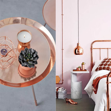 HOME-DZINE | Cosy up with copper - metallics look fantastic in the home and are an easy way to add a dash of sophistication and understated luxury. All you need is a can or two of Rust-Oleum metallics and you're good to go!