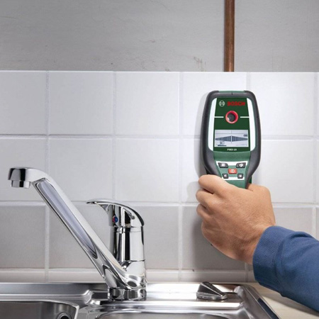 HOME-DZINE | The Bosch PMD 10 Digital Detector locates live cables, metals, and wooden studs with high accuracy at depths of up to 100mm. For home DIY enthusiasts this means that you never again have to worry about hitting live cables or water pipes when undertaking repairs or improvements.