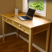 DIY Maple Veneer Writing Desk