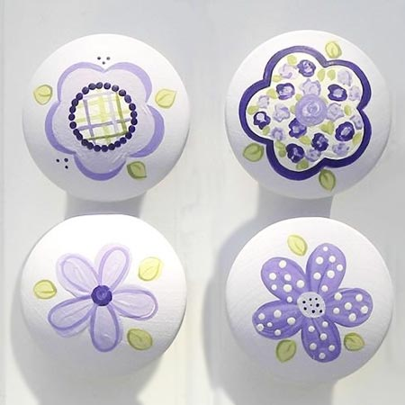 HOME-DZINE | Find inspiration online for designs that can be painted onto knobs. These days you don't need to be an artist - print out and decoupage if you're not that good at painting.