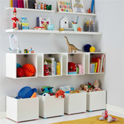 Bedroom Storage Wall for Kids