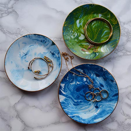 make decorative bowls with rust-oleum paint