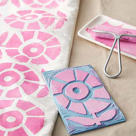 HOME-DZINE | When using acrylic craft paint as a substitute to fabric paint to paint on fabric with stencils, let the paint dry and then use a warm iron over the back of the fabric to bond the paint to the fabric.