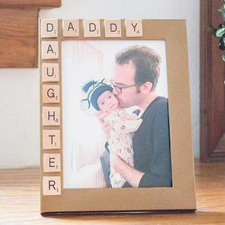 HOME-DZINE | Another fun project for Father's Day is to use an old picture frame and Scrabble letters to create the perfect gift.