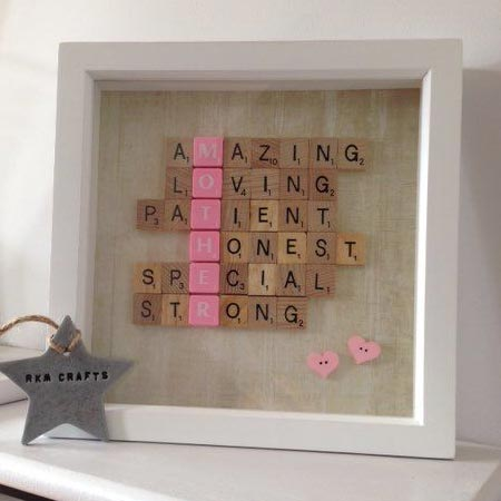 HOME-DZINE | scrabble tiles are great for an easy gift for fathers day