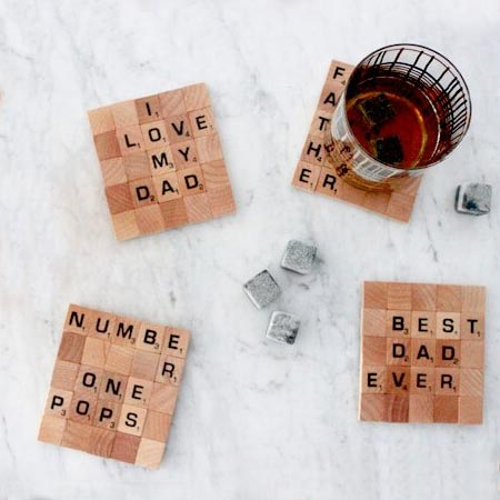 HOME-DZINE | scrabble tiles are a great way to make an easy gift for fathers day