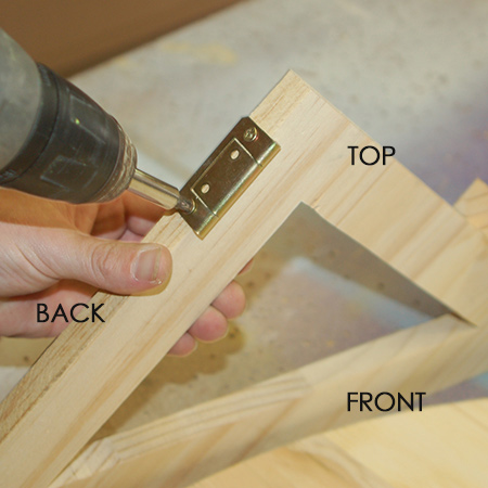 Make a small drop-leaf table - hinges on support