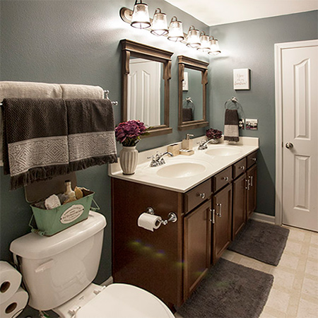 Cosmetic bathroom makeovers are a great project you can do on a weekend and it won't cost a fortune to give your bathroom a fresh new look.