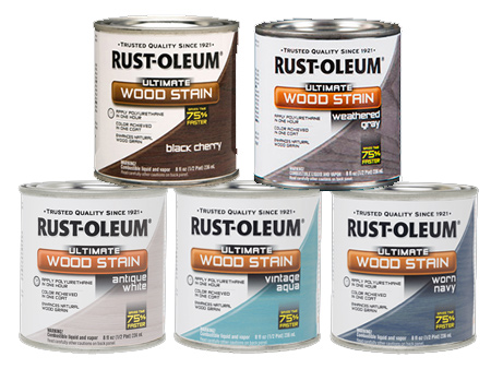 Rust-Oleum Ultimate Wood Stain is available in 17 tints and provides rich, even colour and a beautiful patina. You can use Rust-Oleum Ultimate Wood Stain to stain and seal indoor furniture.