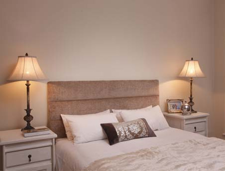 Give your bedroom instant pizzazz with a designer headboard. Made to order, Finishing Touches offers six beautiful designs to choose from.