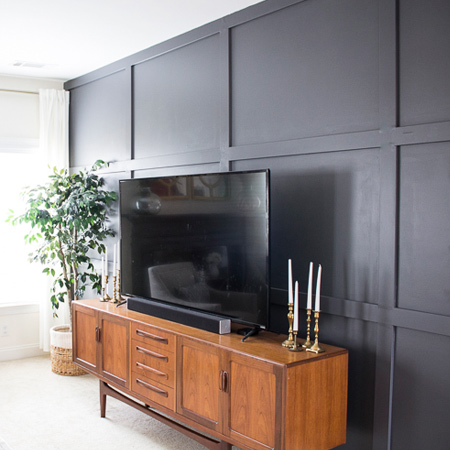 That's how easy it is to create your own DIY panelled wall without too much fuss and at minimal cost.