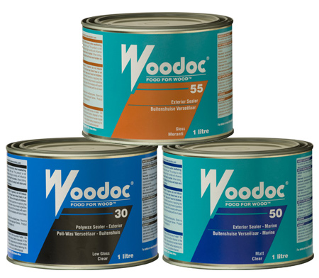 Stain the table top in your choice of coloured wood stain and then apply Woodoc Exterior Sealer for maximum protection outdoors.