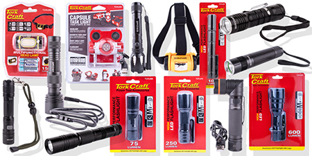 HOME-DZINE | Vermont Sales - Tork Craft LED flashlights, torches, headlamps, and work lights