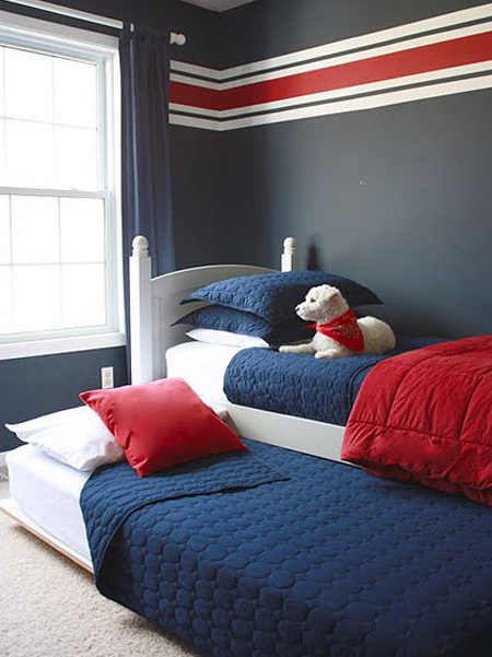 What is a trundle bed: Trundle beds are the ultimate sleepover bed. This hide-away bed slides under another bed and is the perfect solution to sleepovers or guest stays. Usually only sized up to a twin sized mattress, they occasionally may come larger, and the frame may also lift to be level with the bed to create a larger surface.