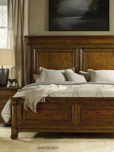 What is a panel bed: A panel bed has flat, decorative headboards (and occasionally footboards) that are similar to wall paneling, hence the name. The base of these boards are typically wooden, but covered in plush cloth, ironwork, or other decorative items. It may actually be attached to the wall your bed rest against itself as well.