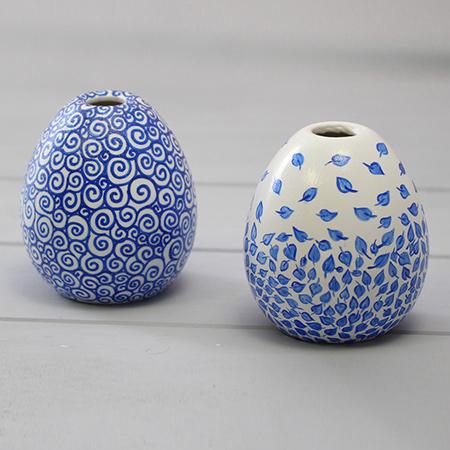 Home Dzine Craft Ideas Air Dry Clay Bud Vases