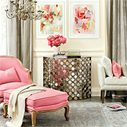 Decorate with grey and pink