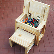Tough stepstool toolbox