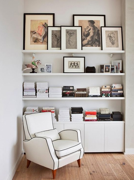 Turn an alcove into a cosy reading nook by adding shelves. With all the materials you need readily available at your local Builders or timber merchant, it's a great way to turn that wasted space into a practical solution without taking up valuable floor space.