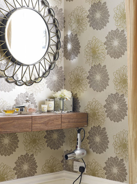 use an alcove to create a practical area to mount a countertop for a makeup station - or to style your hair.