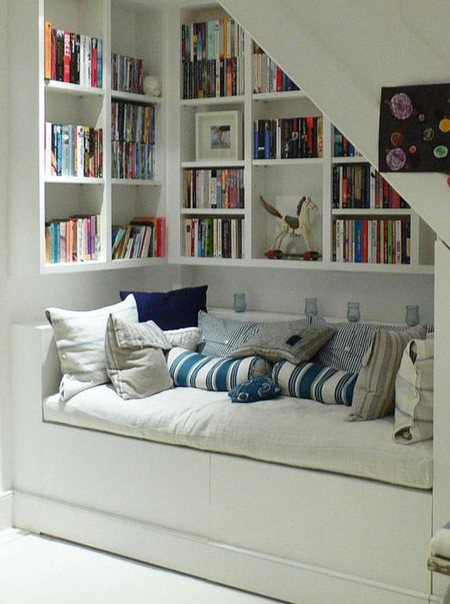 An alcove under the stairs can be used in so many ways. You can install built-in cupboards for much-needed storage, or spoil yourself with a reading nook. In a small home it's even possible to fit a fold-out bed for when guests stay over.