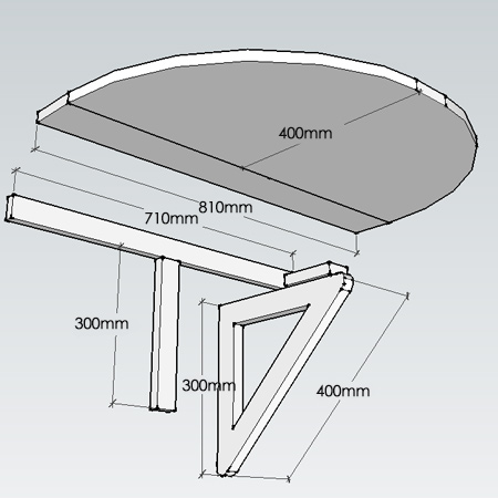 Make a small drop-leaf table - diagram