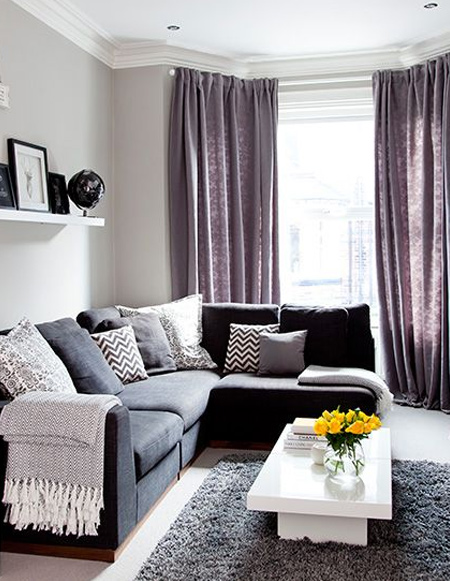 Winters can be cold, but rather than huge power bills, think about making your living room more comfortable. Textured fabrics instantly add a level of warmth to a room, and you can snuggle with these on chilly evenings.