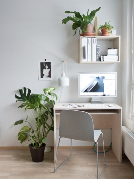 Take a look at how easy it is to set up your own home office with laminated pine shelving or pine plywood that you can buy at Builders.