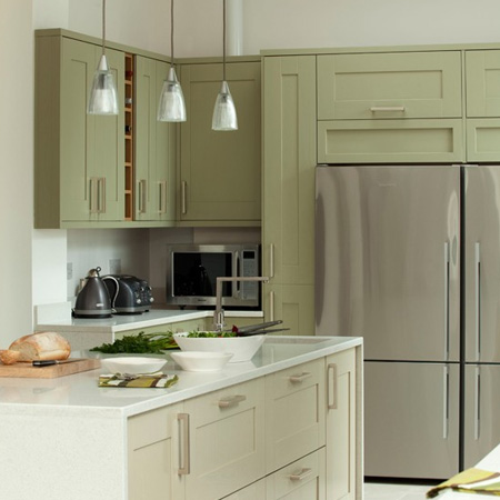 With painted kitchens becoming increasingly popular, sage green is a colour to consider for kitchen cabinetry. Adding colour without being overpowering and the combination of sage green and white is an effortless look that make a modern statement and ties in with cottage, rustic, or contemporary design.