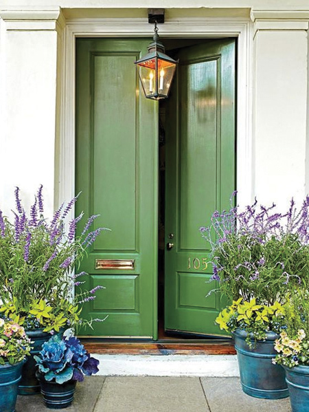 And let's not forget to use sage green to add curb appeal or create a welcoming effects for guests to your home. This versatile colour complements neutrals and brings out the best in contrasting colours.