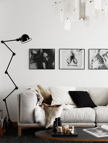 If you're unsure about going full out with black, try starting out with a small project. Wall art and decor accessories are a good place to start and you can slowly incorporate more black.