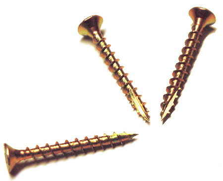 Cut screws have a special tip that allows them to cut easily in hard- and softwood without the need for a pilot hole