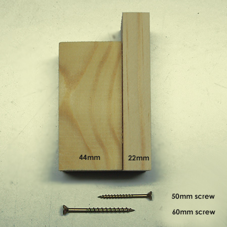 Select a Eureka screw that can be driven halfway through the piece being joined.