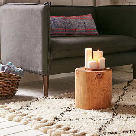 Add texture and warmth with a rug