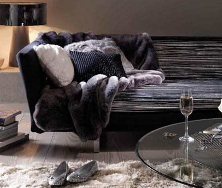 Fill your living room with cushions, thick-pile rugs and luxurious chenille blankets