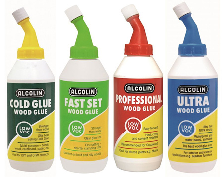 Alcolin wood glue is available in several variants and the thicker consistency of this wood glue means less runs and drips.
