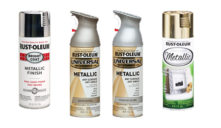 Find Rust-Oleum Bright Coat, Universal Metallic and Specialty Metallic in silver and satin nickel at your local Builders.