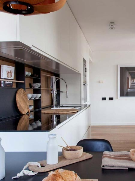 Suburban apartment goes city chic
